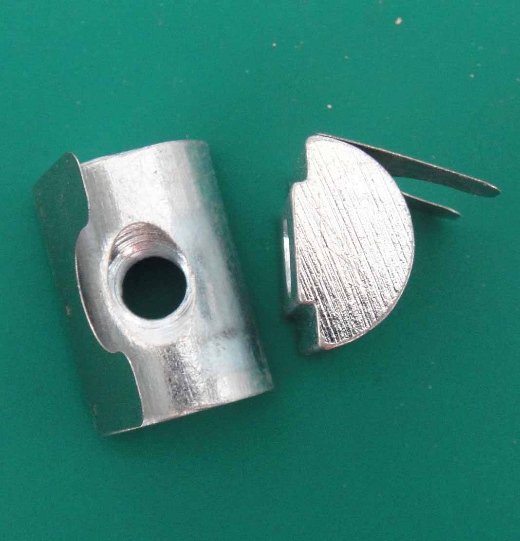 Spring Nuts Zinc-, Nickel-plated Steel and Stainless Steel