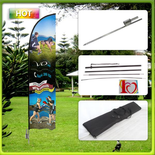 Portable banner flag stand
