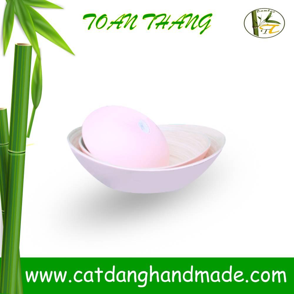 Vietnam coiled bamboo bowl(skype