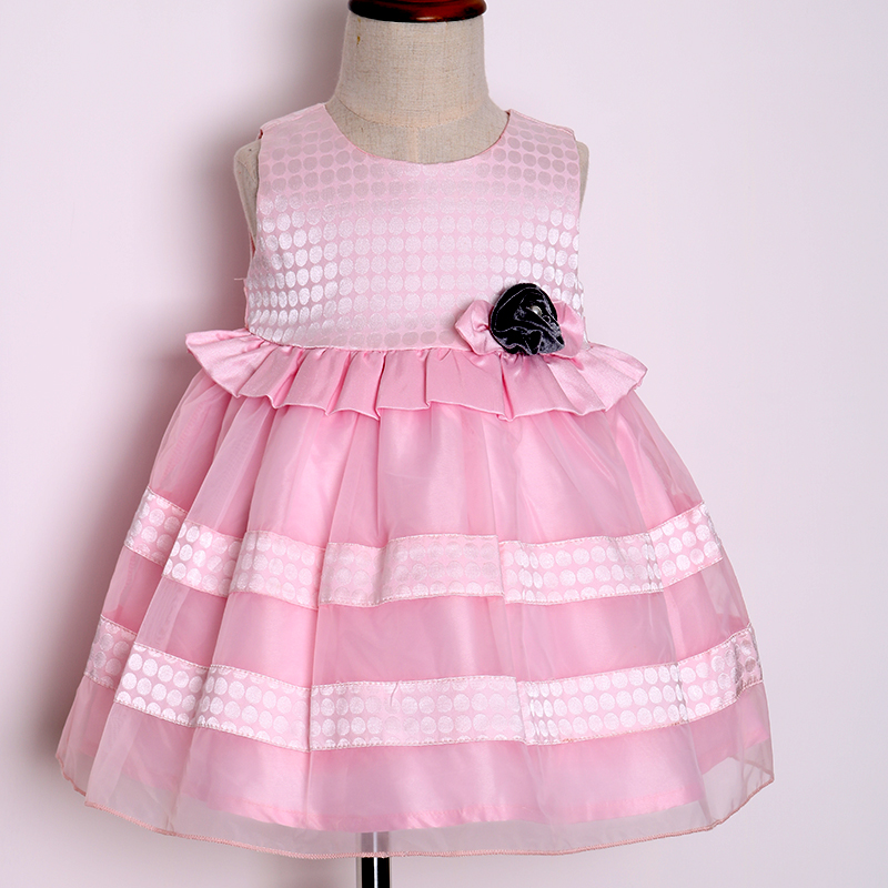 Online garments formal design special occasion knee length dresses for 2-10 years old girls