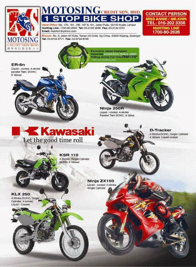 KAWASAKI BIKES & PARTS FOR EXPORT