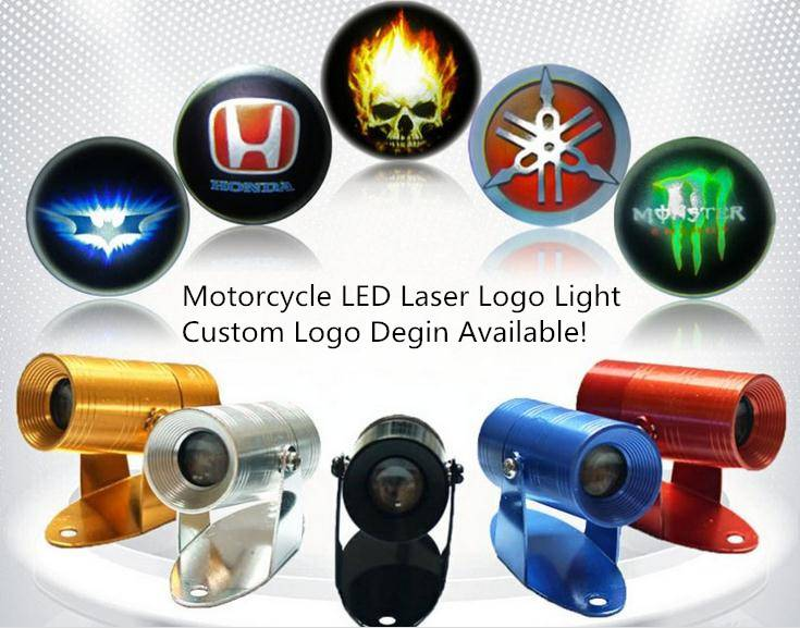 LED Logo Laser Projector Light for Motorcycles,Custom Logo Design Available