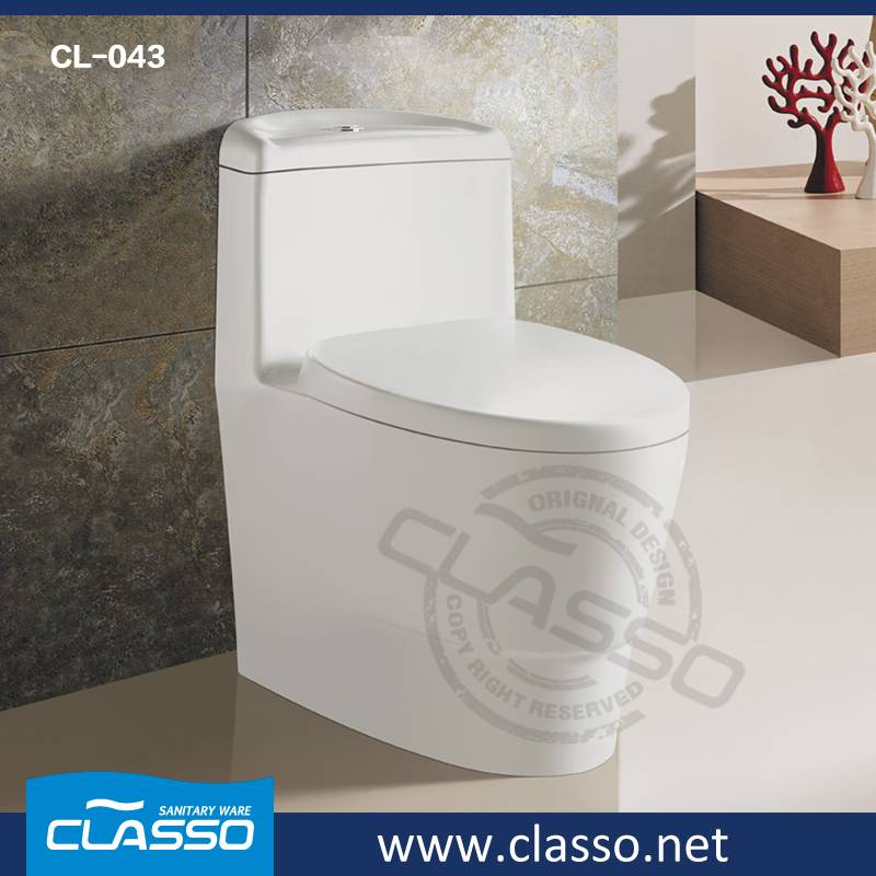 Hot sale CLASSO siphonic toilet new design water closet CL-043