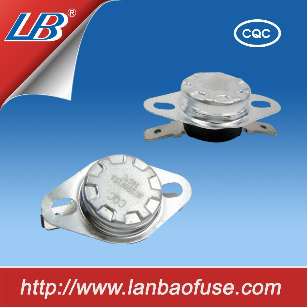 Hot High-tech 10A/250V bimetal thermostat plastic body without bracket normaly close or open