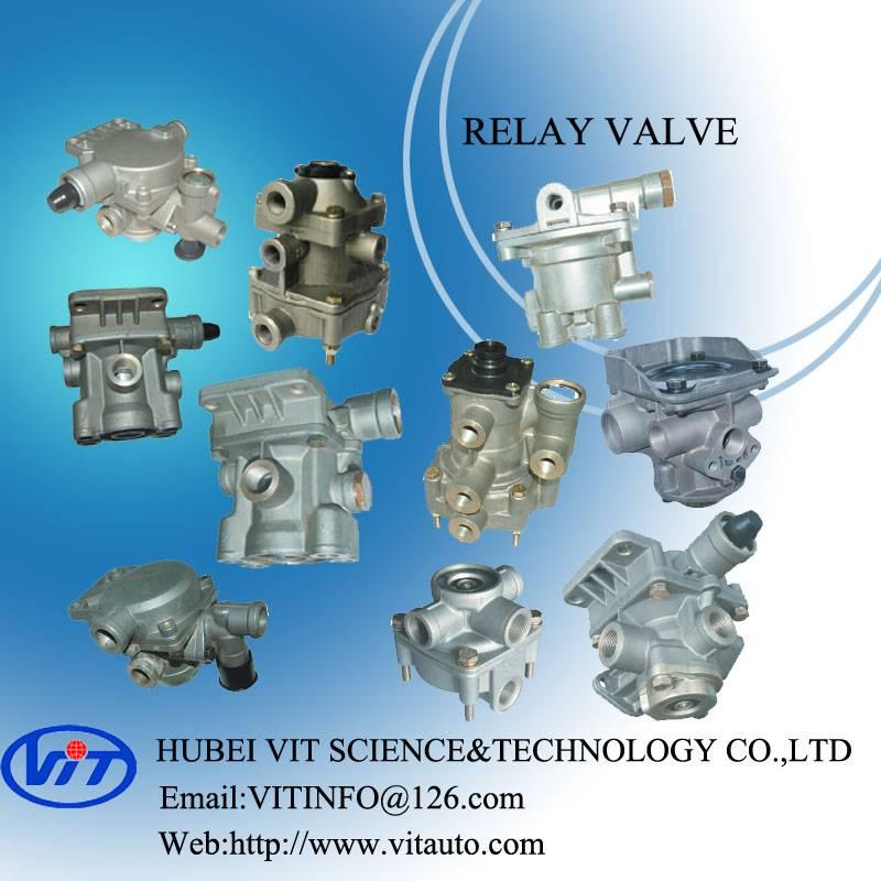 Truck air brake part relay valve