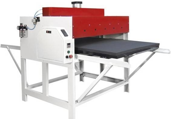 Air-operated double stations sublimation transfer machine