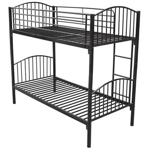 kids furniture single metal twin bunk bed latest double bed designs-black