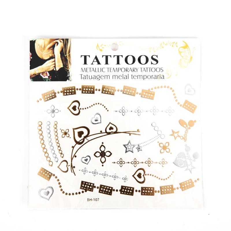 Fashion Metallic Tattoo Sticker