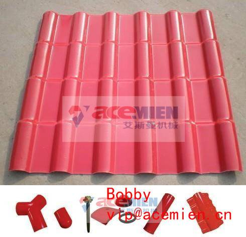 880mm Synthetic resin tile extrusion machinery-For Roofing