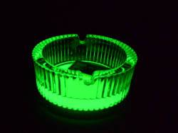 glow in dark glass ashtray