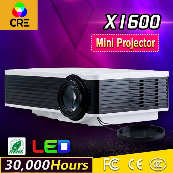 CRE X1600 Free shipping 1200 lumens 1000:1 low cost lcd led mini hd home theater projectors