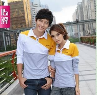 Couple long sleeve T Shirt 2011 new arrival autumn clothing Corea L178