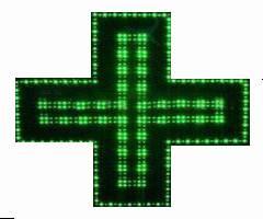 LED pharmacy cross