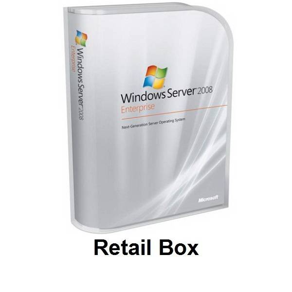 Microsoft Windows Server 2008 Enterprise 1-25 Client Retail Box