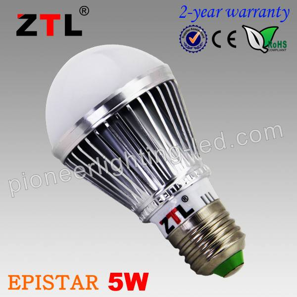High quality epistar chip e27 led bulb lighting 5w