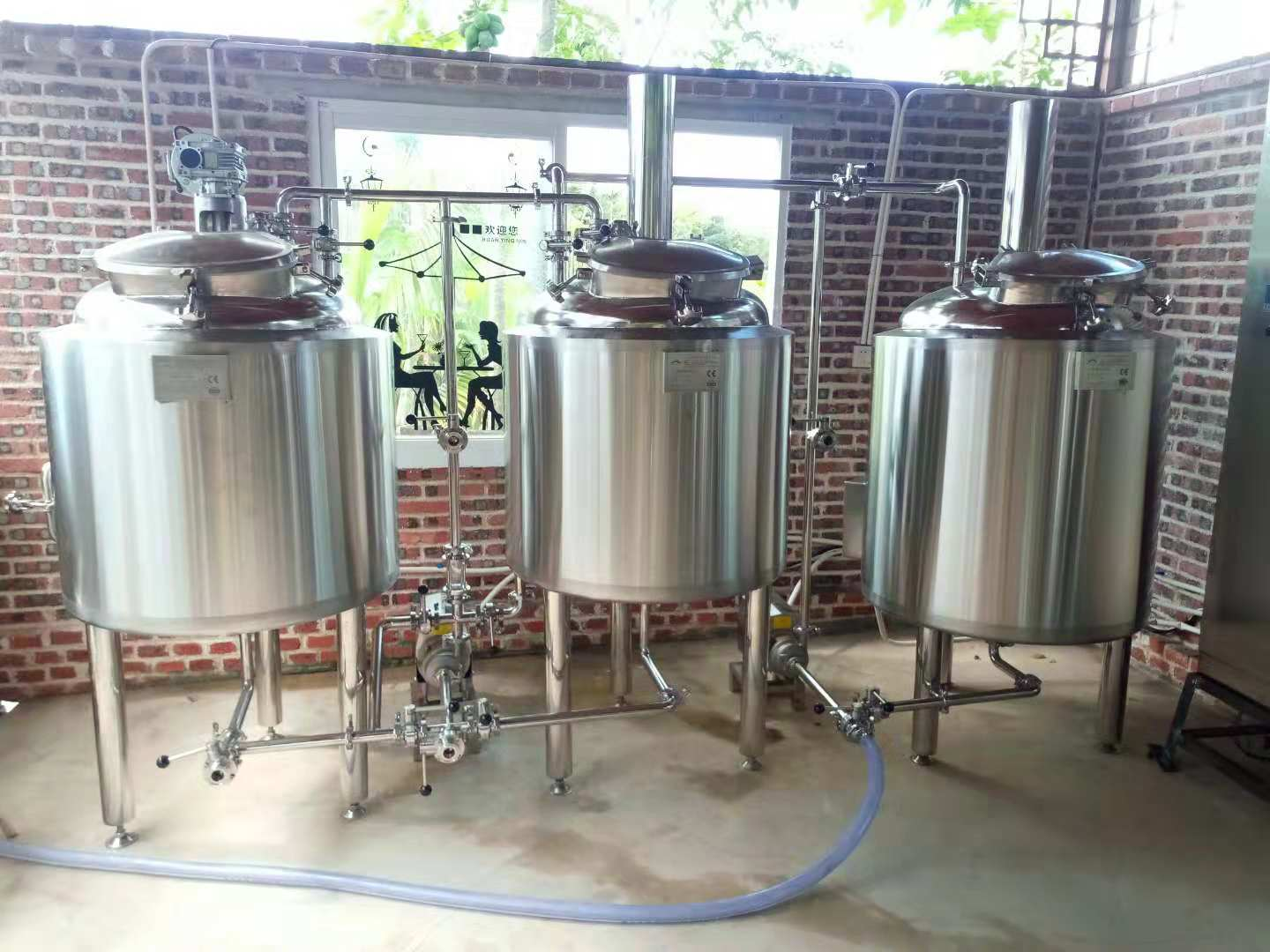 micro brewery equipment 200l 300L 500L brewing beer brewing kettles sus 304 stainless steel