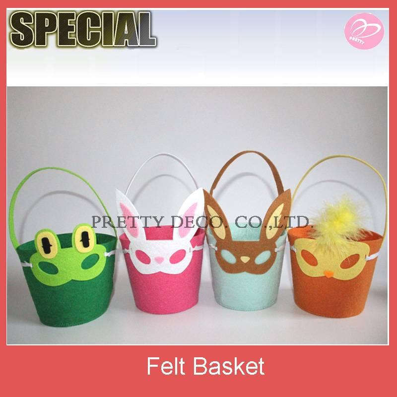 Bunny mask style felt easter basket