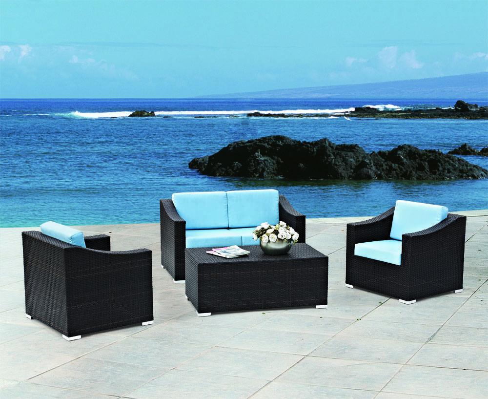 wholesale cheap outdoor rattan garden sofa