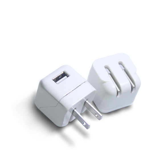 1A USB Charger for iPad and Mobile Phones, 100-240V AC Input