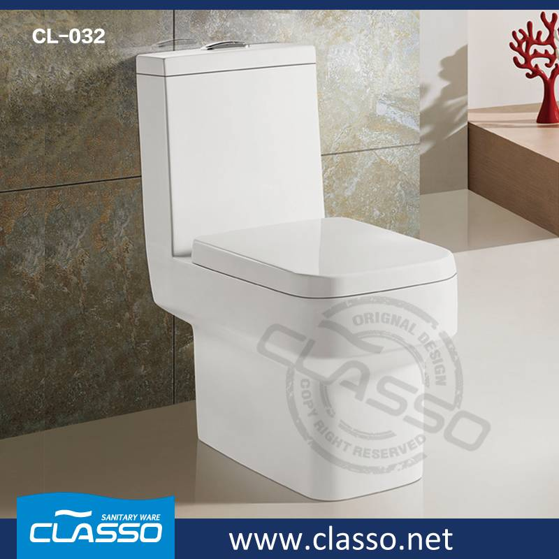 New design hotel WC washdown toilet 4-inch one piece closet CL-032