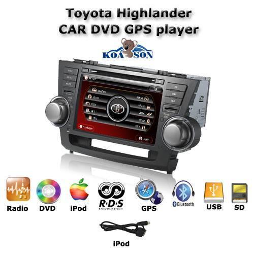 Car DVD GPS Navigation Player For Toyota Highlander