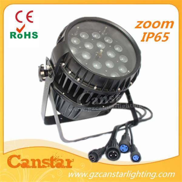 18x10W RGBW 4IN1 Outdoor LED Zoom Par