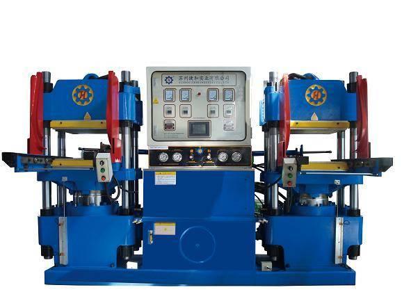Plate rubber vulcanizing machine