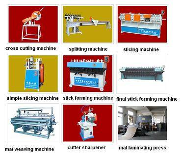 Bamboo mat bamboo curtain blind making weaving machine manufacturing line plant