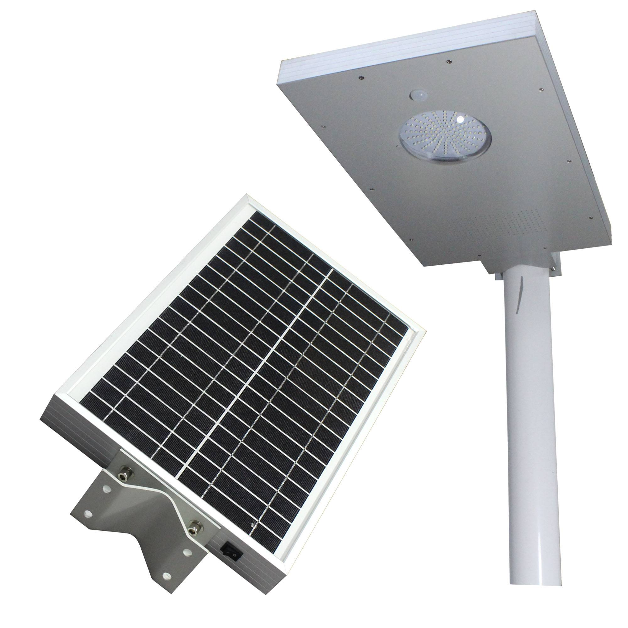 Integrated solar light with 12W LED lamp
