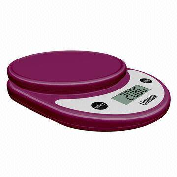 Digital Kitchen Scale, Stylish Silver/Chrome Material/Low-battery and Overload Indication
