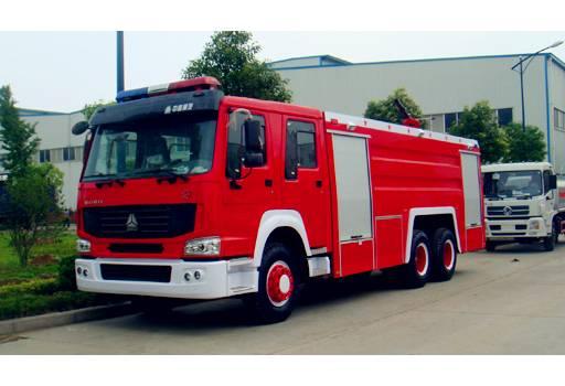 SINOTRUK HOWO 6x4 12m3 fire fighting truck water tank with foam tank
