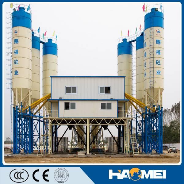hzs120 stationary wet mix modular meka concrete mixing batch plant