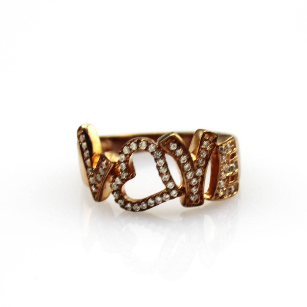 18K Rose Gold Plate Silver Pave Cubic Zircon Band Ring