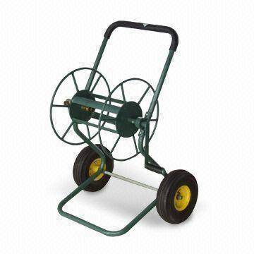 Garden Hose Reel with Pb-free and UV-resistant for Powder Coating, Made of Steel and Rubber