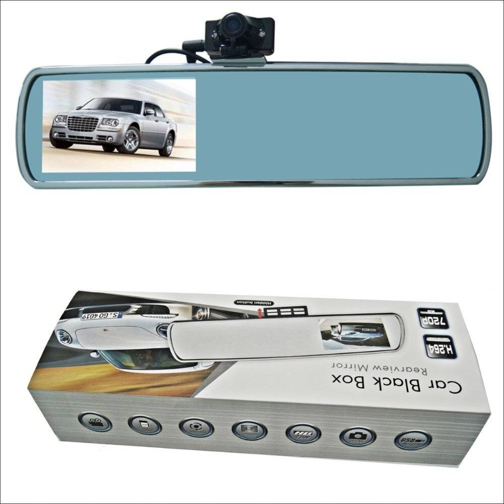 Car Camera Records 1080P-4-3-inch-Car-Rearview-Mirror