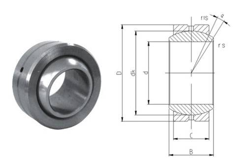 Spherical plain bearing GEFZ19S