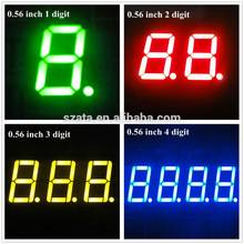 various sizes 7 segment led display
