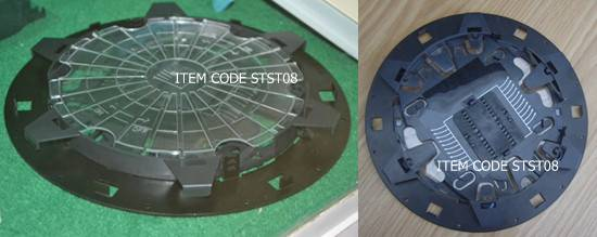 Round Disk Splice Tray/Cassette, 24 Core Optical Fiber Splicing Tray