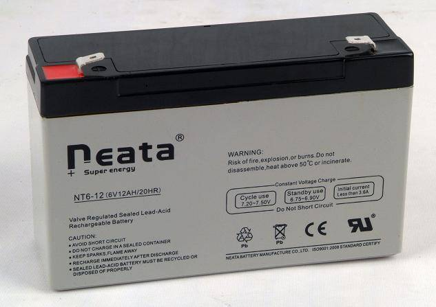 Parking lock battery 6V12Ah (ISO,CE,UL,ROHS,REACH)