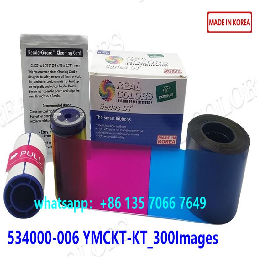 Compatible Datacard Ribbon 534000-006 YMCKTKT_300Images For Datacard SD260 SD360 SP55 SP75 Printer