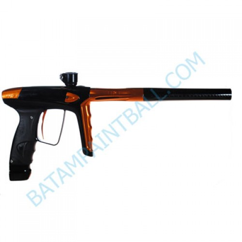 New DLX LUXE ICE Paintball Marker Gun - Polished Black and Orange