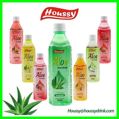 Houssy brand aloe vera juice drink with pulp