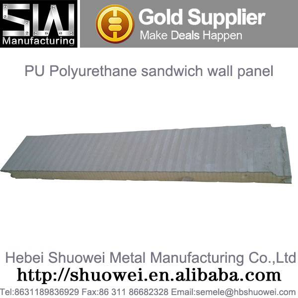 PU Polyurethane sandwich panel for roofing and wall