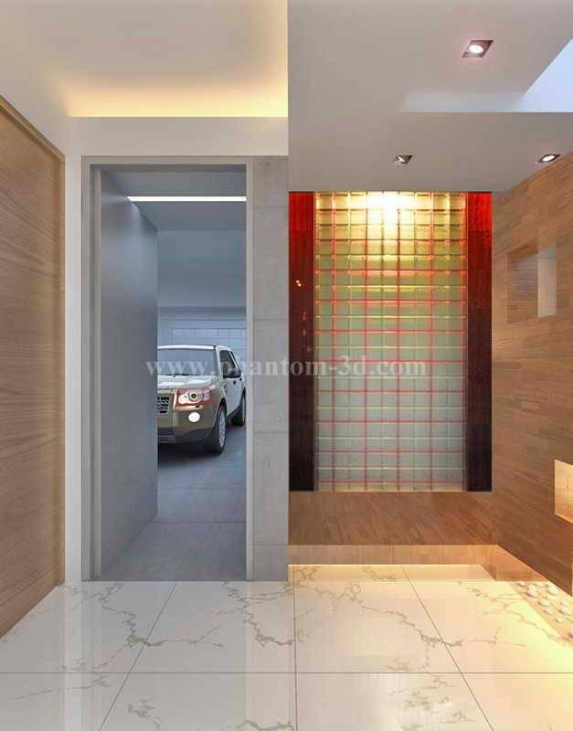 glass partition(with Phantom glass strip)