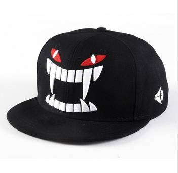 2014 fashion Korean version cap influx of men women in Harajuku personalized dental hip hop skateboa
