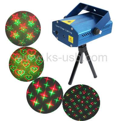 2-colors Mini Disco DJ Club Stage Light with Sound Active Function (YX-08)