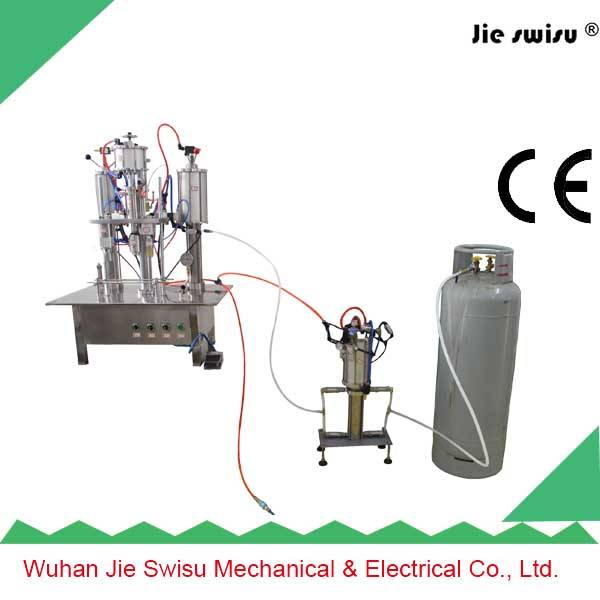 2015 Factory Sale Automatic Spray Paint Can Filling Machine