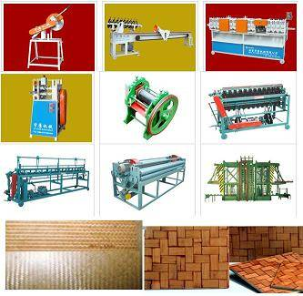 bamboo mat corrugated sheet making weaving laminating press machine manufacturing production line