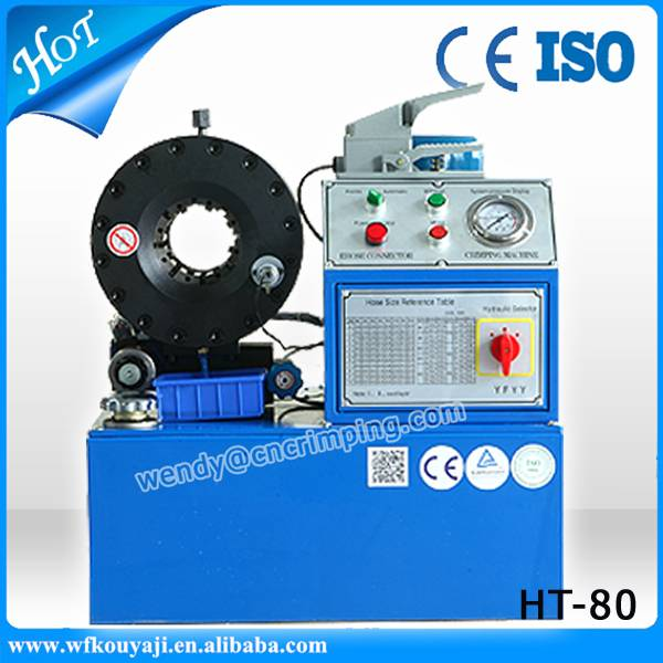 Factory directly sale HT-80 hydraulic hose crimping machine