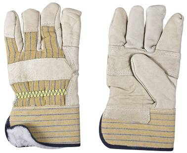 cow grain leather gloves/working gloves